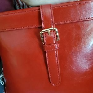 "This chestnut satchel/ style hard /10""by 11"" N W.T"